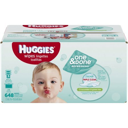 HUGGIES One & Done Refreshing Baby Wipes, 648 Sheets