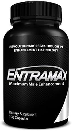 ENTRAMAX Natural Test Booster Formulated for Maximum Male Enhancement - 9 Powerful Ingredients Including Fenugreek, L-Arginine, Maca & Tribulus, 120 Capsules