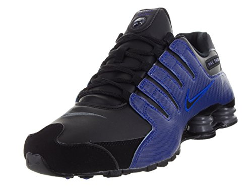 Nike Men's Shox NZ Black/Black/Racer Blue/Drk Gry Running Shoe 13 Men (Nike Big Kids Shox)