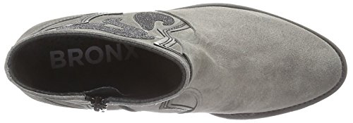 Bronx Women's River Ankle Boots, 3.5 Multicolour (Grey/Gunmetal 1785)
