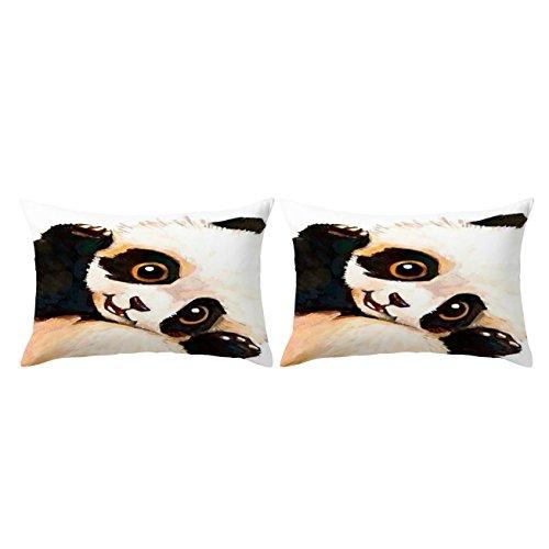 (ARIGHTEX Sleeping Panda Pillow Cases Vintage Panda Bear Pillow Case Wildlife Animal Black and Brown Pillow Covers Set of 2 (Sleepy, Standard 20
