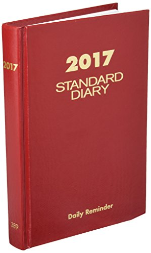 AT-A-GLANCE 2017 Standard Diary Daily Diary, 5 3/4 x 8 1/4 Inches, Red ( SD38913-17)