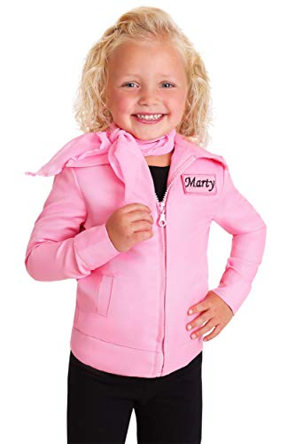 Toddler Authentic Pink Ladies Jacket Costume 4T]()