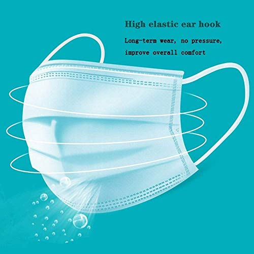 WONE 20 PCS Disposable 3-Ply Safety Mask Viral Mask Face Mask Medical Surgical Mask Dental Earloop Polypropylene Masks for Personal Health
