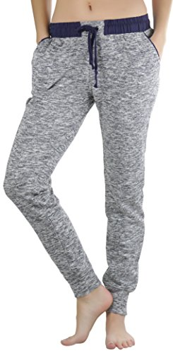 Tobeinstyle Womens French Camo Capri Joggers