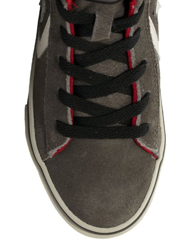 Converse Pro Leather Vulc Mid Suede unisex kinder, wildleder, sneaker high Charcoal/Black/Red