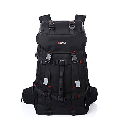 KAKA 55L Outdoor Travel Hiking Trekking Camping Tactical Backpack Climbing Bag with Coded Lock