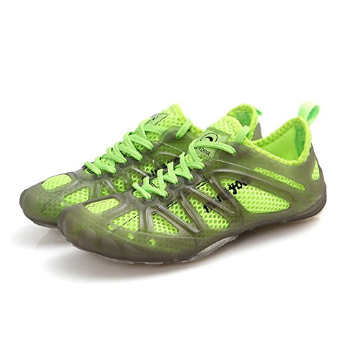 PET WITH ME Fashion Sport Mesh Slip Outdoor Holes Water Shoes Green7 B(M) US Women/6 B(M) US Men Hot Sell.
