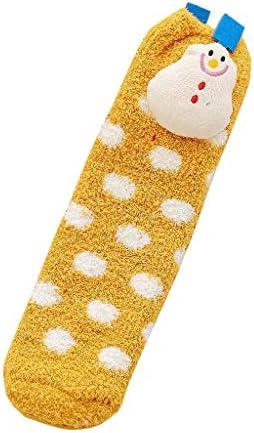 1組の大人の子供ユニセックスソックス綿のクリスマステリー厚く暖かい靴下秋冬 防寒 厚い 保温 就寝 睡眠用 厚手 暖か 冬の靴下 おしゃれ 快適 室内 室外スリッパ ギフトソッ クリスマス