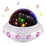 Toys for 1-10 Years Old Girls,Star Projector Night Light,Kids Gifts,Multiple Colors Rotating UFO