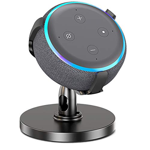 Comsoon Table Holder for 3rd Generation, 360° Adjustable Stand Bracket Mount with Rubber Protection for Home Speaker, Clever Dot Accessories Improves Sound Visibility & Appearance