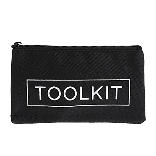 - Portable Tool Storage Bag Canvas Tools Bag Zipper Storage Instrument Case Bag Tool Kit Pouch for Tools, Electrical Supplies, Art Supplies, Household Use(Black-1pc)