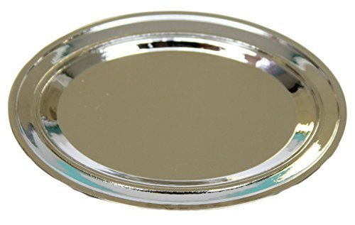 3 Inch Silver Tone Platter Trinket Dish, Ring Holder, Buche Serving Platter