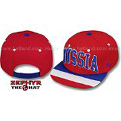 - Zephyr Russia Superstar Red World Snapback Hat One Size