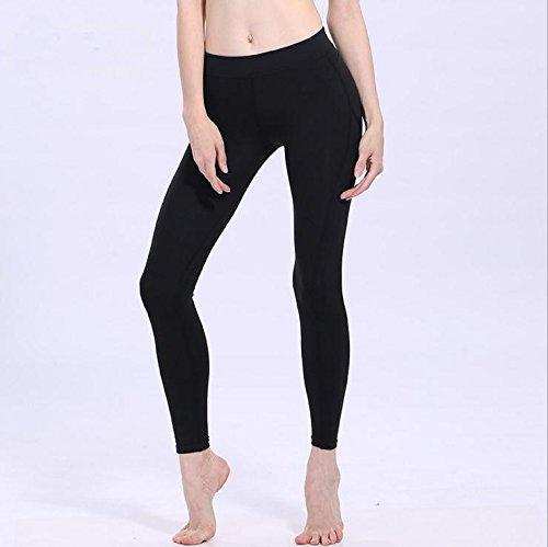 Femmes Nbe Cheville Black Taille Pantalon Sport Fitness Stretch Yoga Des La Moyenne Longueur Leggings SVMUzLqGjp