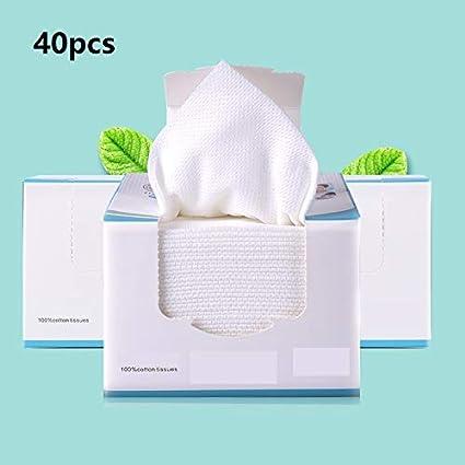 Grenhor Toalla de algodón facial suave, toalla de limpieza, toallitas para la cara y
