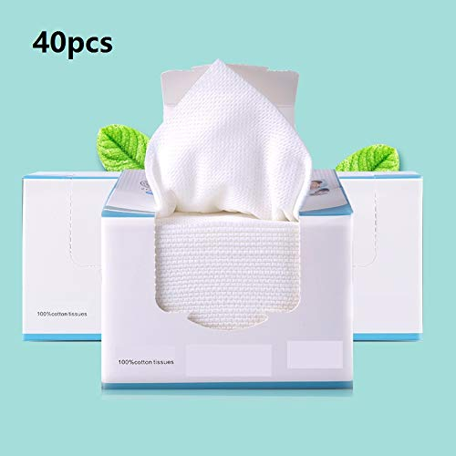 Grenhor Soft Facial Cotton Towel Tissue,Cleaning Face Wipes Eyes Makeup Nail Removing Cotton Pad