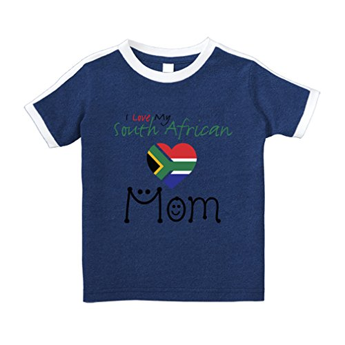 fan products of Cute Rascals I Love My South African Mom #2 Cotton Short Sleeve Crewneck Unisex Toddler T-Shirt Soccer Tee - Royal Blue, 4T