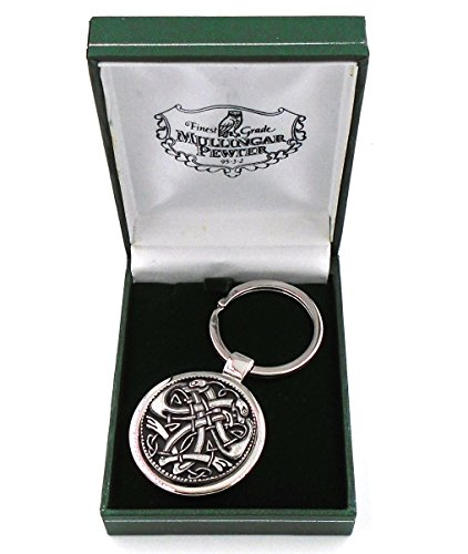 Mullingar Pewter Irish Celtic Crane Design Keychain