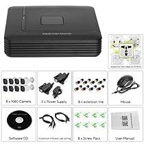 DVR System - 1/2.7 CMOS, 1080p Resolution, 20M Night Vision, IP66 Waterproof, 5 Recording Modes, 1TB HDD