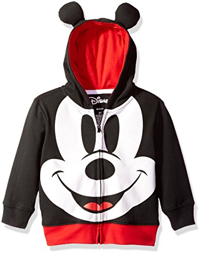 Disney Toddler Boys' Mickey Mouse Costume Hoodie, Black, 4T