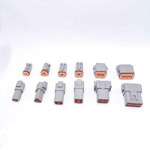 60 sets 6 models Deutsch DT06/DT04 2/3/4/6/8/12 Pin Engine/Gearbox waterproof electrical connector for car,bus,motor,truck by ZLB