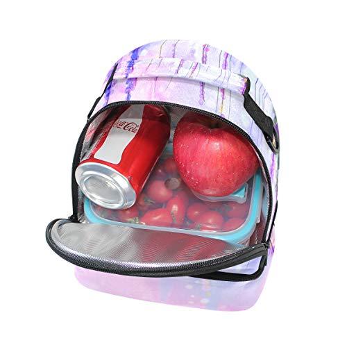 acuarela Bolsa correa Alinlo almuerzo el con para el hombro para térmica ajustable color 1wgBOq