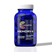 CocoaVia Memory+ Brain Supplement, 750 mg of Cocoa Flavanols | Brain Support for Improved Memory and Brain Function | 30 Day Supply