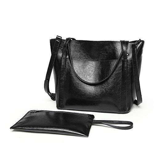Moda Bag Black Messenger Retrò Americana Europea E Donna Borsa Portatile wZxqaXp