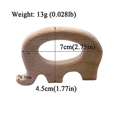 Amyster 6pcs DIY Pendent Hand Cut Wooden Elephant Car Owl Bird Camera Fish Eco-Friendly Wooden BabyTeether Natural Beech Wooden Product : Baby