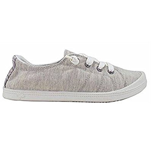 Jellypop Dallas Womens Slip On Sneakers Natural Fabric 8
