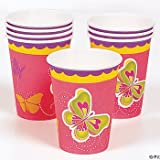 Pretty Butterfly Cups (8 PC)