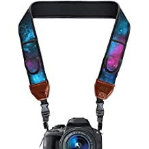 USA GEAR TrueSHOT Camera Strap with Galaxy Neoprene Pattern , Accessory Pockets and Quick Release Buckles - Compatible With Canon , Nikon , Sony and More DSLR , Mirrorless , Instant Cameras'.