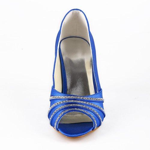 Wedding pour de mariée chaussures Escarpins Bleu femme Jia A31B36 Jia mariage SwRUq5S