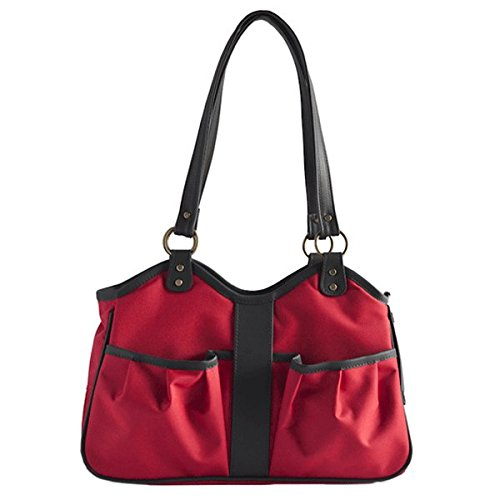 Petote Metro Dog Carrier Bags with 2 Open Pockets, Red, L...