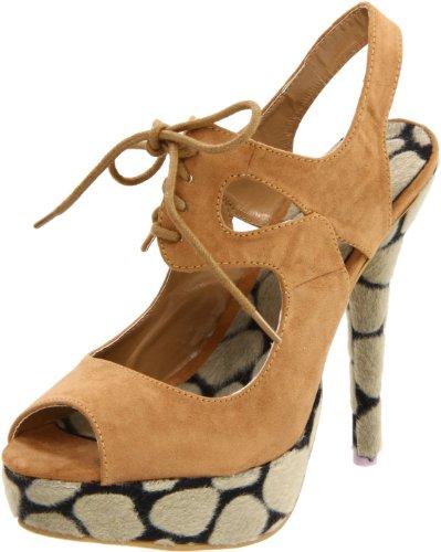 Fahrenheit Kvinnor Landi-12 Slingback Sandal Taupe