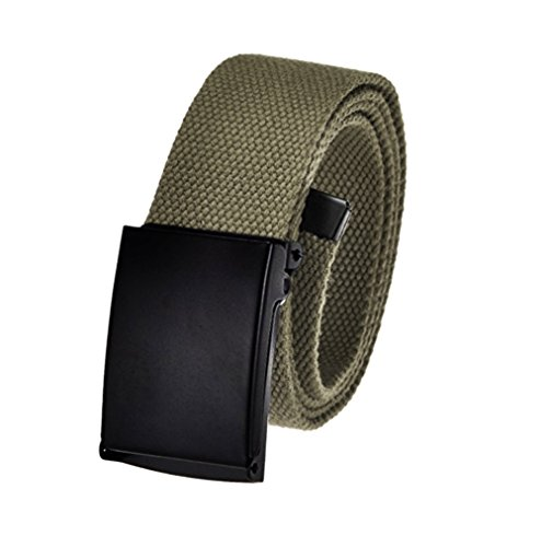 (Men's Cut to Fit Golf Belt Casual Outdoor Canvas with Black Military Flip Top Buckle XXX-Large Olive)