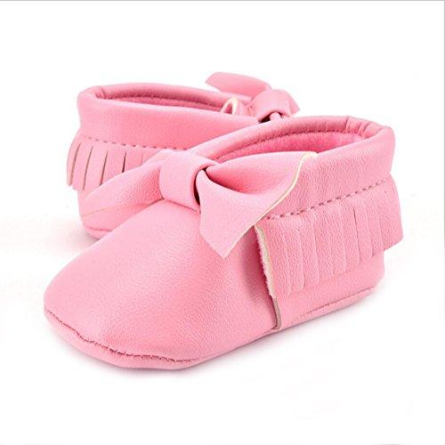 Vlunt Baby Mädchen Kleinkind Schuhe Bowknot Weich Sohle Babyschuhe Lauflernschuhe Rosa