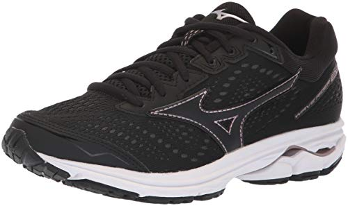 Mizuno Women's Wave Rider 22 Running Shoe, Black/Rose Gold, 8 B US