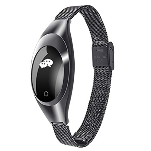 Sports Fitness Tracker, Z18 Waterproof Touchable Smart Watch with Calorie Step Heart Rate Blood Pressure Oxygen Sleep Monitor Sedentary Reminder Remote Camera Alarm Clock for Kids Women ()
