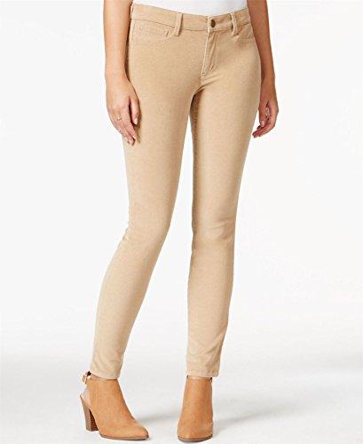 Maison Jules Womens Mid-Rise Skinny Corduroy Pants Tan 0 (Corduroy Tan Pants)