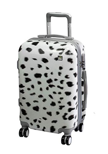 Carry amp; 8 Animal Bear on Suitcase Luggage with Print Wheels Cabin Lightweight Durable Hard Polar Bag Spinner 55x35x22cm Airplanes A2S White Shell wxRUzqt7RS
