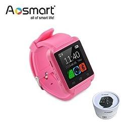 Bluetooth Smart Watch, Aosmart U8 Smartwatch For Android Smartphones - Pink