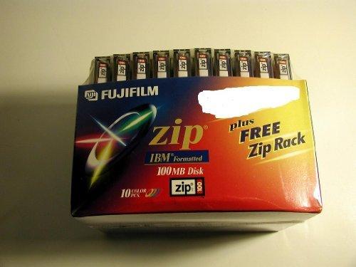 FUJI ZIP 100MB IBM Formatted 10PK Color with Zip Rack by Fuji (Image #1)