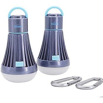 2 Pack Led Tent Light Bulb Lantern Flashlight For Camping