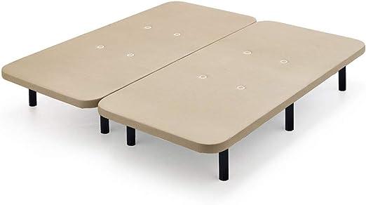 6 patas de metal con tejido 3D y v/álvulas de transpiraci/ón-80x200cm-Patas 26cm Base tapizada