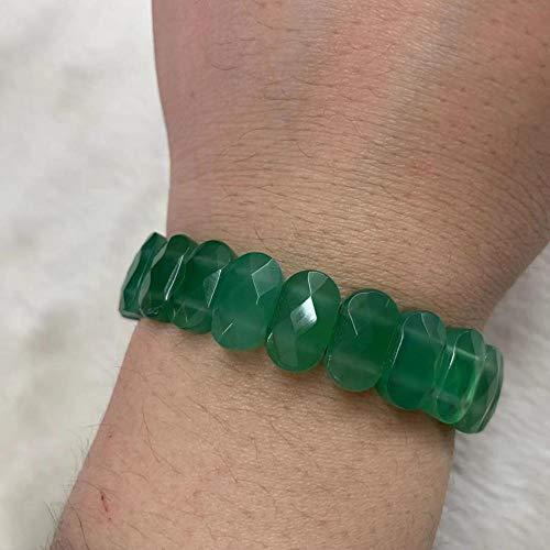 (Green Agates Beads Bracelet | Natural Stone Bangle | for Women)