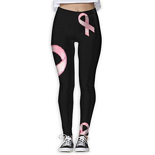 Lijixian Breast Cancer Stripe Gym Sportswear Pants Yoga Pants Workout Leggings Run Pants