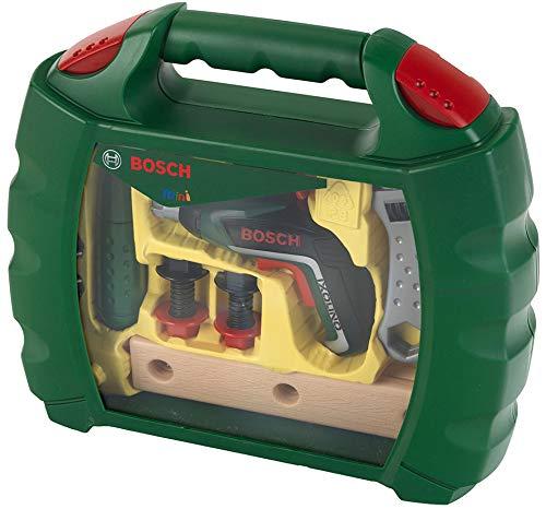 Theo Klein-8394 Bosch maletín de Herramientas con Atornillador de acumuladores ixolino II, Juguete, Multicolor (8394)