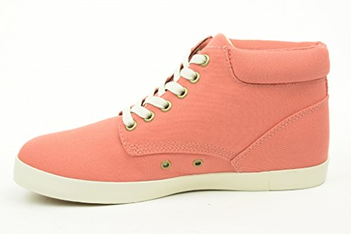 Mujer TIMBERLAND zapatillas 8401B EK Glastenbury TELA CHUKKA rosa - rosa salmón